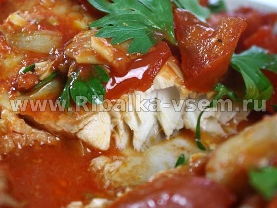 окунь в томате рецепт с фото